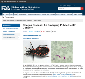 FDA Chagas announcement page